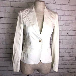 Theory off white single button blazer. Size 4